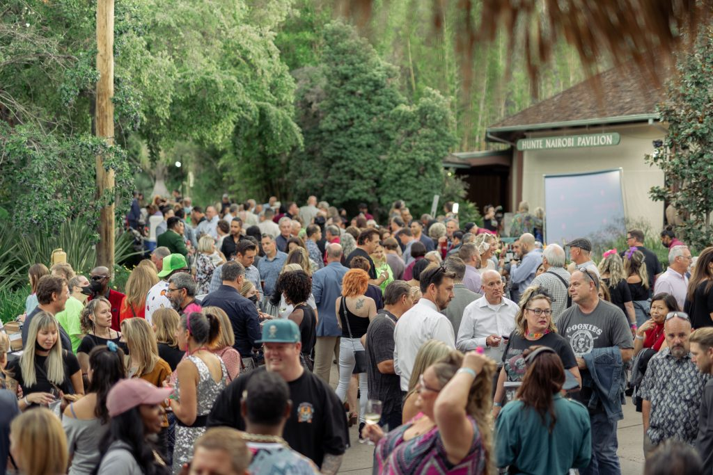 Attendees at the San Diego Safari Park for Neighborhood Healthcare's Gala
